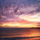 Sunset at Bathers' Beach, Fremantle, W.A. by Sandra Chung