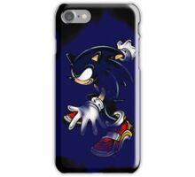 Dark Sonic (Black Background) iPhone Case/Skin