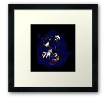 Dark Sonic (Black Background) Framed Print