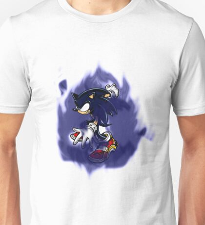 Dark Sonic (Black Background) Unisex T-Shirt