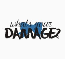 What's Your Damage? (Blue Bow) Kids Clothes