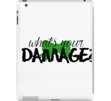 What's Your Damage? (Green Bow) iPad Case/Skin