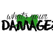 What's Your Damage? (Green Bow) by Valerie Genzano