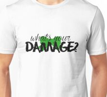 What's Your Damage? (Green Bow) Unisex T-Shirt