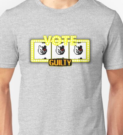 Monokuma guilty slot machine Unisex T-Shirt