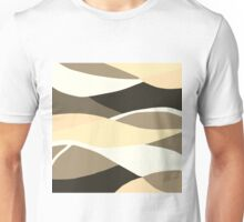 Beige Brown and Taupe Abstract Unisex T-Shirt
