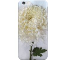 Curly White Mum iPhone Case/Skin