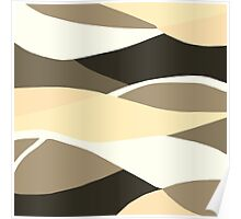 Beige Brown and Taupe Abstract Poster