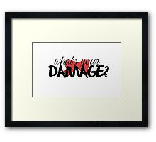 What's Your Damage? (Red Bow) Framed Print