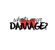 What's Your Damage? (Red Bow) Photographic Print
