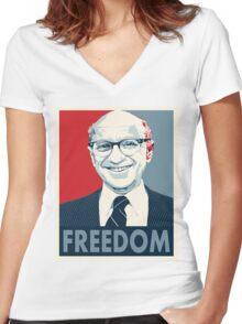 Milton Friedman Women's Fitted V-Neck T-Shirt
