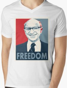 Milton Friedman Mens V-Neck T-Shirt