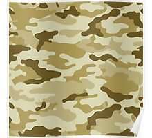 Camo Army Style Poster