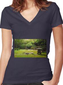 Japanese tea garden San Francisco Women's Fitted V-Neck T-Shirt