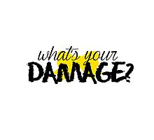 What's Your Damage? (Yellow Bow) Photographic Print