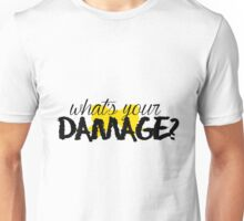 What's Your Damage? (Yellow Bow) Unisex T-Shirt