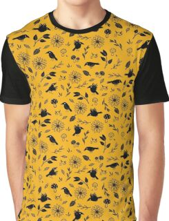 Crows and Foliage Graphic T-Shirt