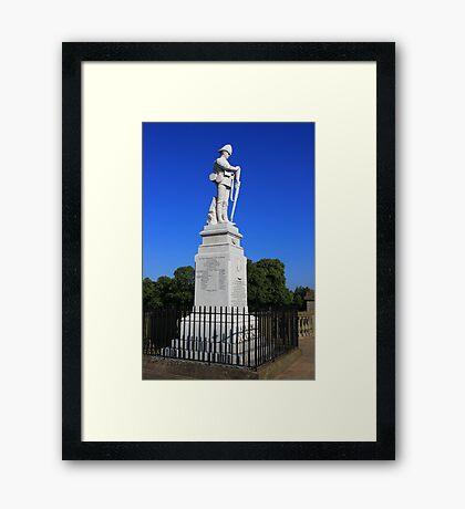 Shrewsbury Boer War Memorial Framed Print