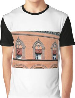 Building facade from Bologna with red brick and decorative windows Graphic T-Shirt