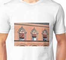 Building facade from Bologna with red brick and decorative windows Unisex T-Shirt