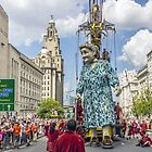 Giant Grandma at the Liver Building by Paul Madden