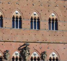 Red brick building from Piazza del Campo, Siena Sticker