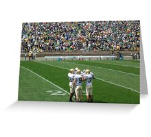 The Huddle-Notre Dame Football Greeting Card