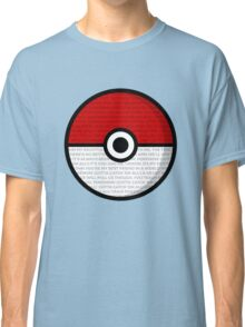 Pokéball with Pokémon Theme Lyrics Classic T-Shirt