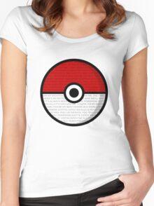 Pokéball with Pokémon Theme Lyrics Women's Fitted Scoop T-Shirt