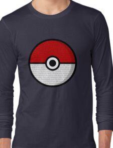 Pokéball with Pokémon Theme Lyrics Long Sleeve T-Shirt