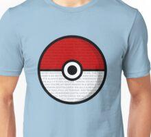 Pokéball with Pokémon Theme Lyrics Unisex T-Shirt