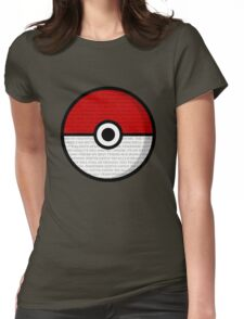 Pokéball with Pokémon Theme Lyrics Womens Fitted T-Shirt
