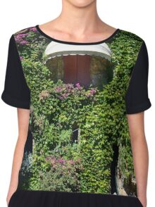 Building facade covered in vegetation Chiffon Top