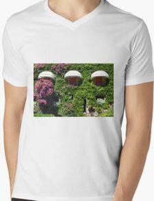 Building facade covered in vegetation Mens V-Neck T-Shirt