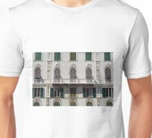Classical facade from Genova with detailed decoration ornaments Unisex T-Shirt