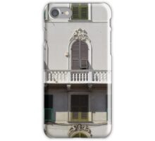 Classical facade from Genova with detailed decoration ornaments iPhone Case/Skin