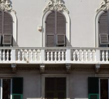 Classical facade from Genova with detailed decoration ornaments Sticker