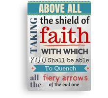 Put on the whole armour of God, Bible Verse / quotation Canvas Print