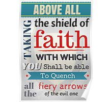 Put on the whole armour of God, Bible Verse / quotation Poster