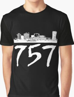 Virginia Beach - 757 (White Logo) Graphic T-Shirt