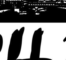 Charleston - 843 (Black Logo) Sticker