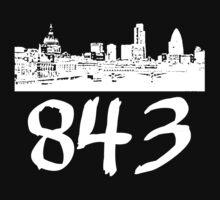 Charleston - 843 (White Logo) One Piece - Short Sleeve