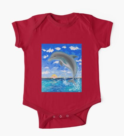 Baby Dolphin  One Piece - Short Sleeve
