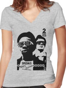 2Tone Tour Women's Fitted V-Neck T-Shirt