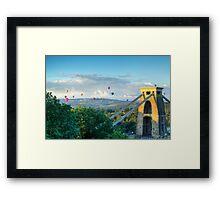 Adrift Over Bristol Framed Print
