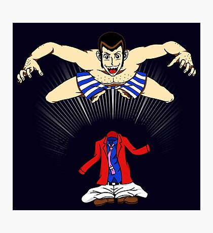 Lupin's Best Skill (Red Version) Photographic Print