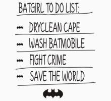 BatGirl To Do List One Piece - Long Sleeve