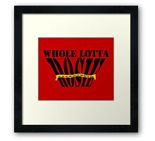 Whole Lotta Rosie- ACDC Framed Print