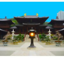 monastery, temple, Tempel, buddhistisches Kloster, Buddha, Hong Kong Photographic Print