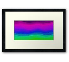 Sheets of Colour Framed Print